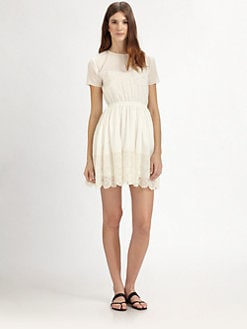 girl. by Band of Outsiders - Cotton Gauze & Lace Dress