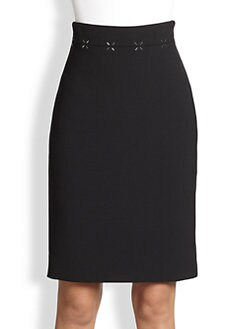 Alexander Wang - Rivet-Embellished High-Waisted Pencil Skirt
