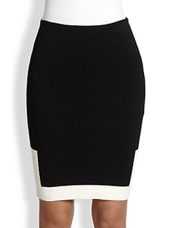 Alexander Wang - Two-Tone Knit Pencil Skirt
