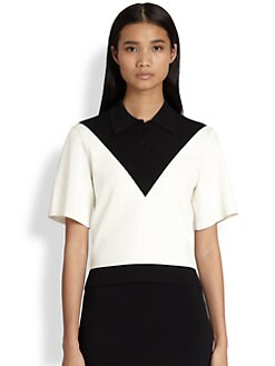 Alexander Wang - Two-Tone Polo Shirt