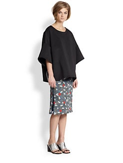 Opening Ceremony - Oversized Dropped-Shoulder Neoprene Top