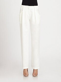See by Chloe - Textured Front-Pleat Pants