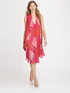 See by Chloe - Printed Silk Chiffon Wrap Dress