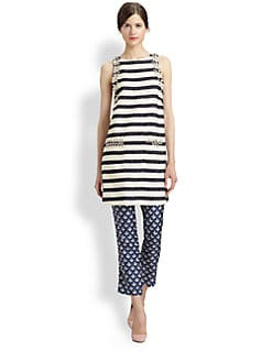 By Malene Birger - Crystal-Embellished Striped Dress
