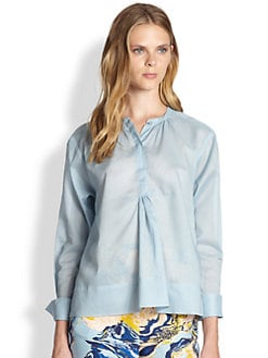 By Malene Birger - Shirred Cotton Shirt