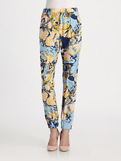 By Malene Birger - Printed Silk Pants