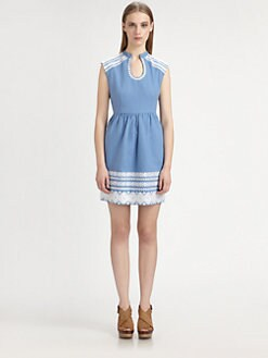Suno - Embroidered Cotton Dress