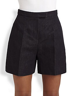 Carven - High-Waist Denim Shorts