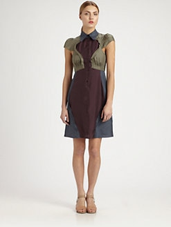 Carven - Silk Colorblock Dress