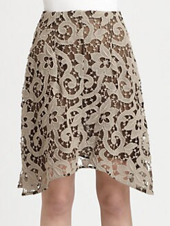 Carven - A-Line Lace Skirt