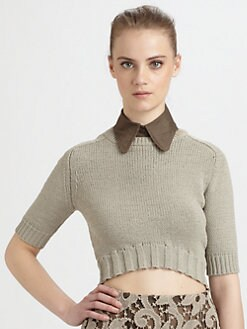 Carven - Cropped Sweater