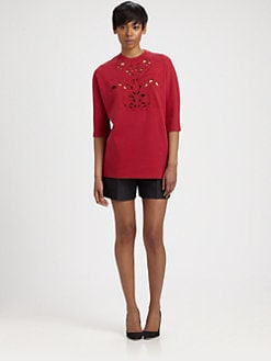 Carven - Cutout-Patterned Sweatshirt