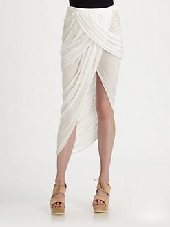 Under.Ligne by Doo.Ri - Draped Asymmetrical Skirt