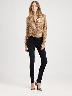 Haute Hippie - Leopard-Print Silk Blouse