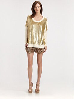 Haute Hippie - Sequin Jersey Sweatshirt