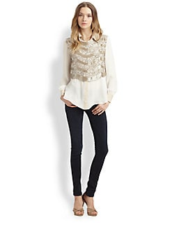 Haute Hippie - Embellished Silk Vest