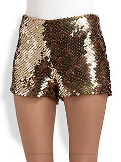 Haute Hippie - Sequined Modal Shorts
