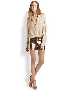Haute Hippie - Silk Deep-V Blouse