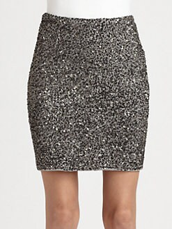 Haute Hippie - Sequined Modal Pencil Skirt