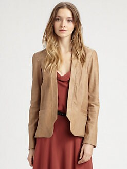 Haute Hippie - Draped Leather Blazer
