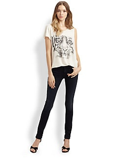 Haute Hippie - Tiger-Print Jersey Tee