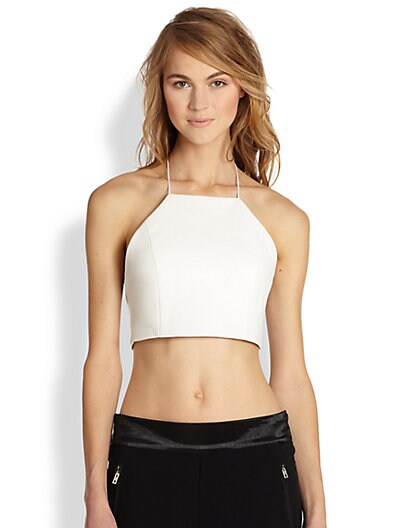 Sale alerts for Rag & Bone Daytona Leather Halter Crop Top - Covvet