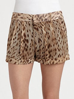 Haute Hippie - Leopard-Print Silk Shorts