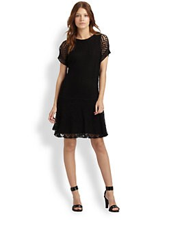 Thakoon Addition - Crochet Linen Dress