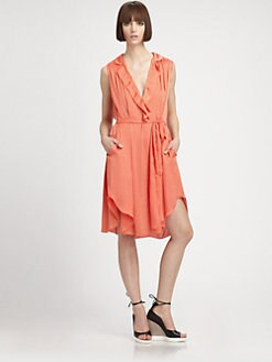 L'AGENCE - V-Neck Tunic Dress