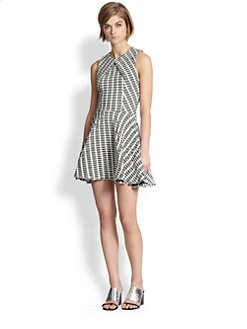 Opening Ceremony - Textured-Pattern Fit-and-Flare Dress