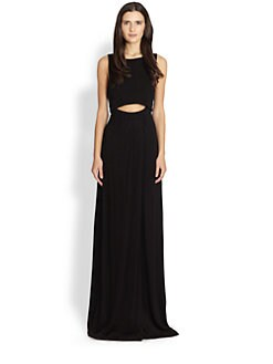 A.L.C. - Layered-Top Cutout Maxi Dress