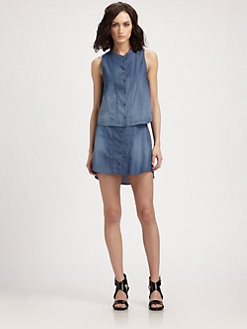 Theyskens' Theory - Wanfor Bini Ombre Chambray Shirt