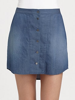Theyskens' Theory - Wanfor Suna Chambray Skirt