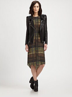 Theyskens' Theory - Nomi Jiker Leather Moto Jacket