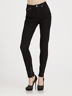 BLK DNM - High-Waisted Denim Leggings