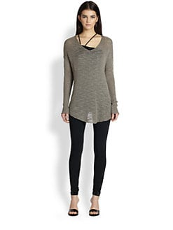 Helmut Lang - Irregular Tape Silk Sweater