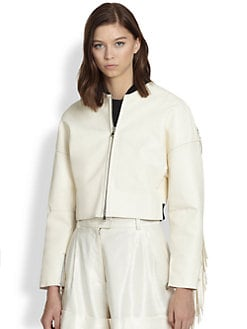 3.1 Phillip Lim - Fringed Leather Bomber Jacket