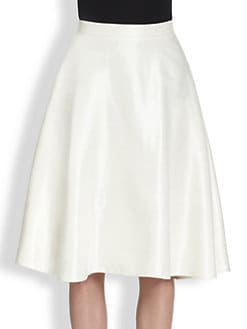 3.1 Phillip Lim - Coated Linen A-Line Skirt