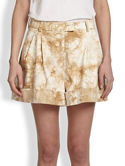 3.1 Phillip Lim - Splatter-Print Stretch Cotton Shorts