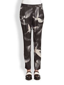 3.1 Phillip Lim - Stretch Silk Flyaway-Print Track Pants