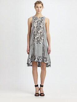 A.L.C. - Borchers Silk Shibori-Print Dress