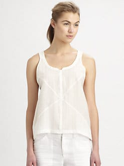 A.L.C. - Alina Cotton & Silk Dobby Tank