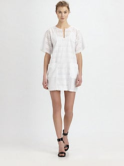 A.L.C. - Agoston Cotton Eyelet Dress