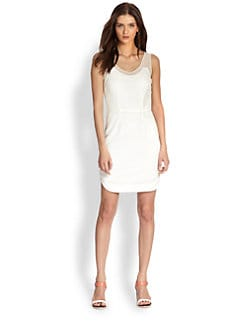 Rag & Bone - Dana Mesh-Trim Dress