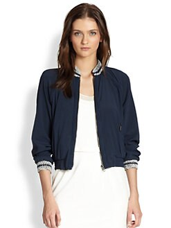 Rag & Bone - Astrid Stretch-Silk Varsity Blouse