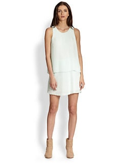 Rag & Bone - Violette Pleated Chiffon Dress