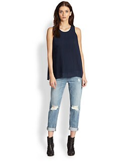 Rag & Bone - Violette Pleated Chiffon Top