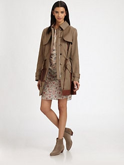 Thakoon Addition - Leather-Paneled Trenchcoat