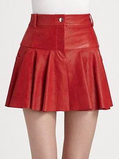 Thakoon Addition - Flared Leather Skirt