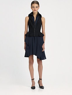 McQ Alexander McQueen - Hook-&-Eye Peplum Dress